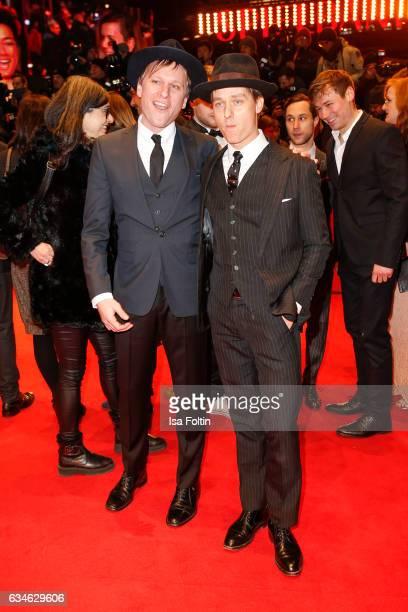 German actor Robert Stadlober and german actor Tom Schilling attend the 'Django' premiere during the 67th Berlinale International Film Festival...