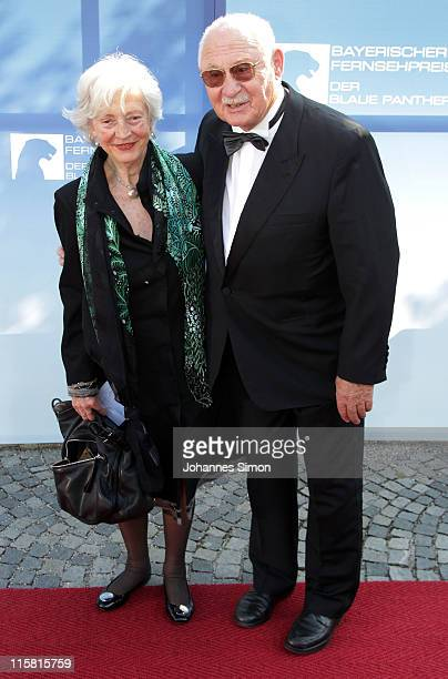 German actor Rolf Schimpf and his wife Ilse Zielstorff arrive for the Bavarian TV Award 2011 'Der Blaue Panther' at Prinzregententheater theatre on...
