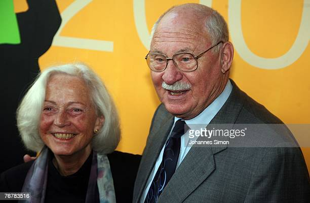 German actor Rolf Schimpf and his wife Ilse Zielstorff arrive for the annual Corine awards on September 16 2007 in Munich Germany The Corine Awards...