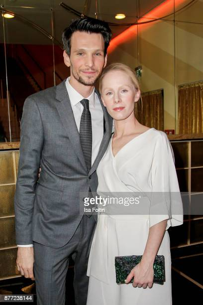 German actor Sabin Tambrea and Austrian actress Susanne Wuest attend the premiere of 'Der Mann aus dem Eis' at Zoo Palast on November 21 2017 in...