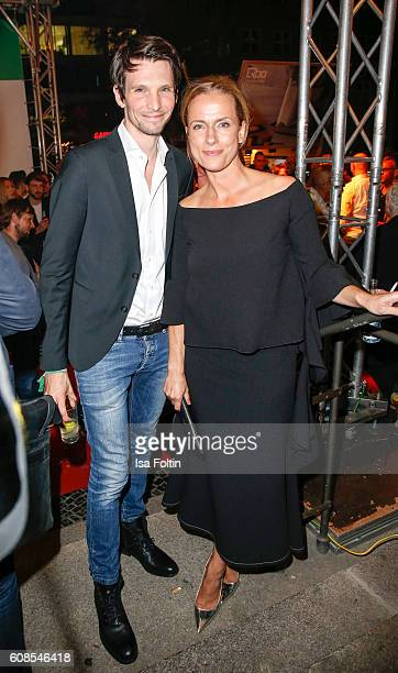 German actor Sabin Tambrea and german actress Claudia Michelsen attend the First Steps Awards 2016 at Stage Theater on September 19 2016 in Berlin...