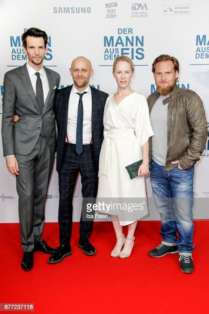 German actor Sabin Tambrea German actor Juergen Vogel Austrian actress Susanne Wuest andGerman actor Axel Stein attend the premiere of 'Der Mann aus...