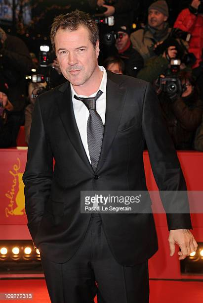 German actor Sebastian Koch attends the 'Unknown' Premiere during day nine of the 61st Berlin International Film Festival at Berlinale Palace on...