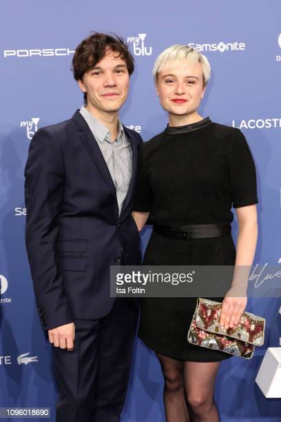 German actor Sebastian Urzendowsky and his sister Lena Urzendowsky attend the Blue Hour Party hosted by ARD during the 69th Berlinale International...