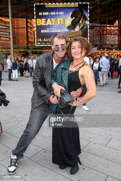 German actor Soenke Schnitzer and German actress Claudia Schmutzler during the musical premiere of 'BEAT IT Die Show ueber den King of Pop' at Stage...