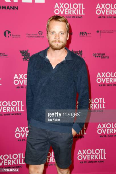 German actor Stefan Konarske attends the 'Axolotl Overkill' Berlin Premiere at Volksbuehne RosaLuxemburgPlatz on June 21 2017 in Berlin Germany