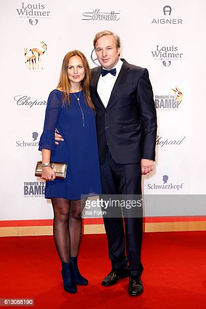 German actor Stephan Grossman and his wife Lidija Grossmann attend the Tribute To Bambi at Station on October 6, 2016 in Berlin, Germany.