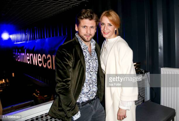 """German actor Steve Windolf and German actress Annika Ernst attend the Daimler event """"Be a Mover"""" at BRLO on October 14, 2019 in Berlin, Germany."""