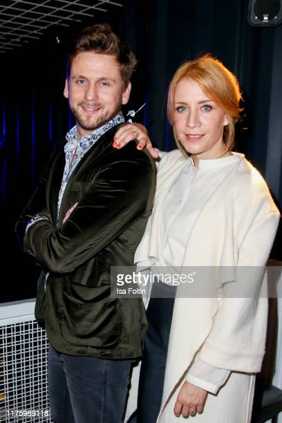 German actor Steve Windolf and German actress Annika Ernst attend the Daimler event Be a Mover at BRLO on October 14 2019 in Berlin Germany