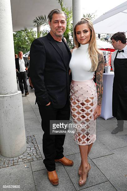 German actor Sven Martinek and german actress Sophia Thomalla during the 'Ein Herz fuer Kinder' summer party at Wannseeterrassen on May 26 2016 in...
