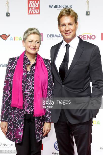 German actor Thomas Heinze and award winner Barbara Staecker attend the 'Goldene Bild der Frau' award at Hamburg Cruise Center on October 21 2017 in...