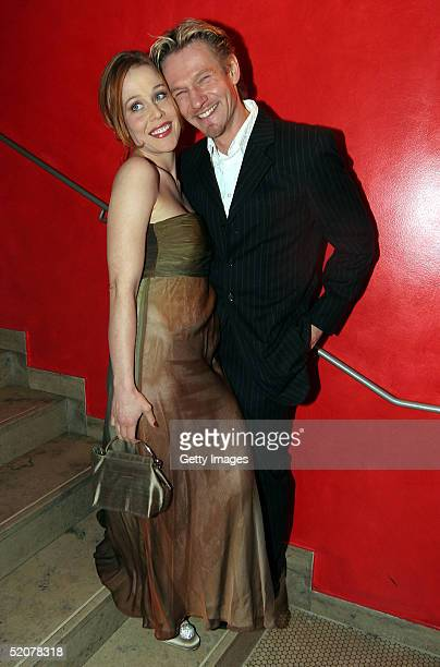 German actor Thure Riefenstein and his friend Patricia Lueger attend the Diva Awards at Deutsches Theater on January 27, 2005 in Munich, Germany.