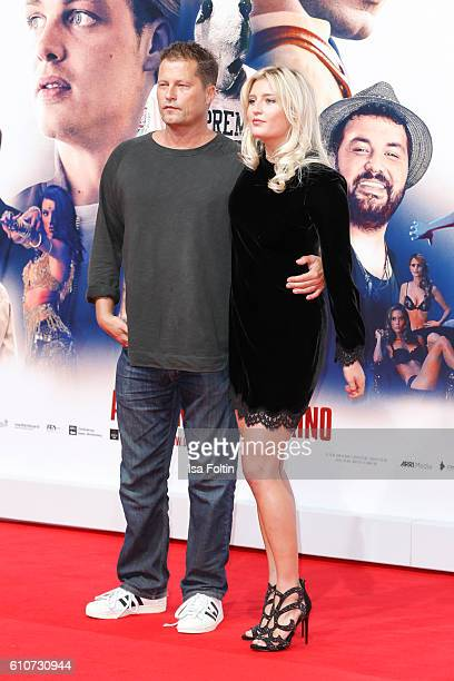 German actor Til Schweiger and his daughter Luna Schweiger attend the 'Unsere Zeit ist jetzt' World Premiere at CineStar on September 27 2016 in...