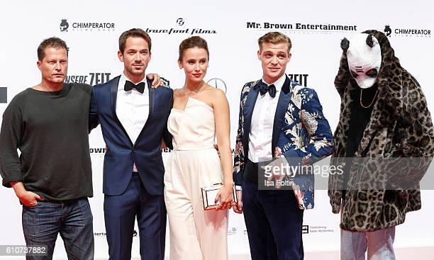 German actor Til Schweiger german actor Marc Benjamin and german actress Peri Baumeister attend the 'Unsere Zeit ist jetzt' World Premiere at...