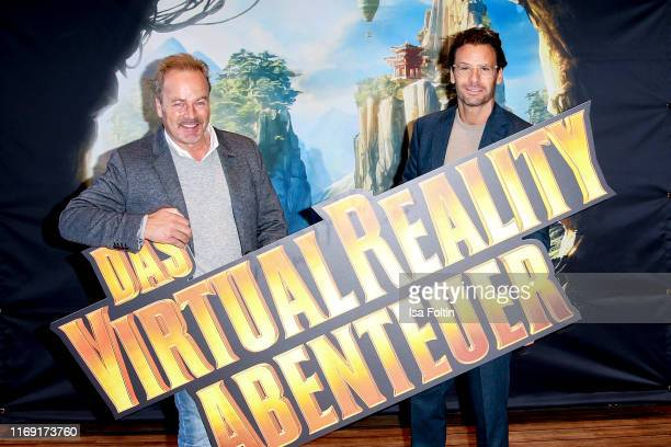 German actor Till Demtroeder and German actor Stephan Luca attend the 40 Years Globetrotter event on September 18 2019 in Hamburg Germany
