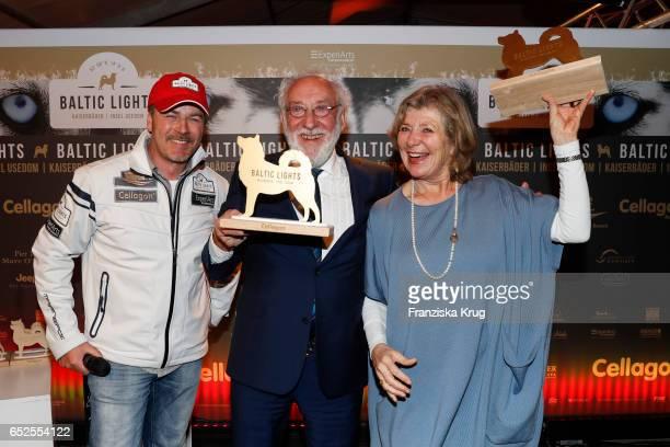 German actor Till Demtroeder, german actor and comedian Dieter Hallervorden and german actress Jutta Speidel attend the 'Baltic Lights' charity event...