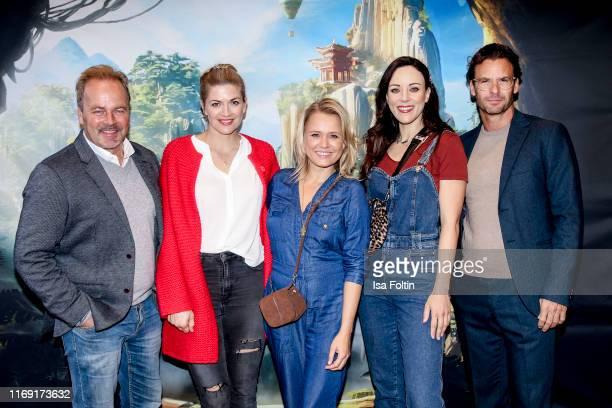 German actor Till Demtroeder German actress Nina Bott German presenter Nova Meierhenrich German singer Jasmin Wagner and German actor Stephan Luca...