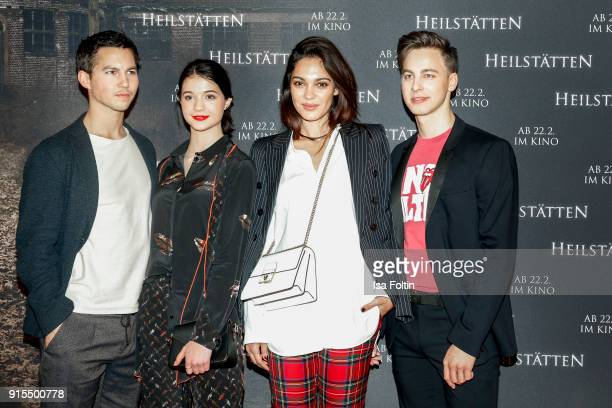 German actor Tim Oliver Schultz German actress LisaMarie Koroll German actress and Video Blogger Nilam Farooq and German actor Timmi Trinks attend...