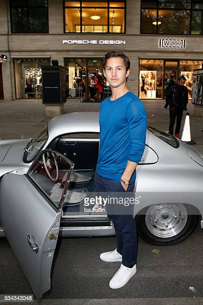 German actor Tim Oliver Schultz wearing clothes by Porsche Design during presentation of the Porsche Design Timepieces '1919 Datetimer Eternity Black...