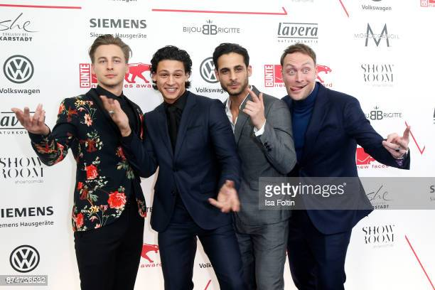 German actor Timmi Trinks German actor Emilio Sakraya German actor Karim Guenes and German actor Martin Stange attend the New Faces Award Style 2017...