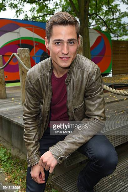 German actor Timothy Boldt during the Daily Soap 'Unter uns' Summer Event Fan Meeting on August 22 2016 in Cologne Germany