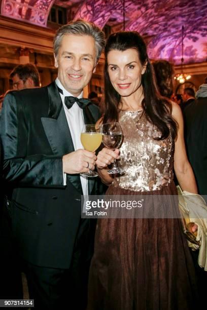 German actor Timothy Peach and Nicola Tiggeler attend the Bayerischer Filmpreis 2018 at Prinzregententheater on January 21 2018 in Munich Germany
