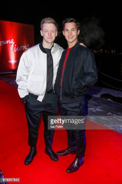 German actor Timur Bartels and German actor Tim Oliver Schultz attend the Young ICONs Award in cooperation with ICONIST at BRLO Brwhouse on February...
