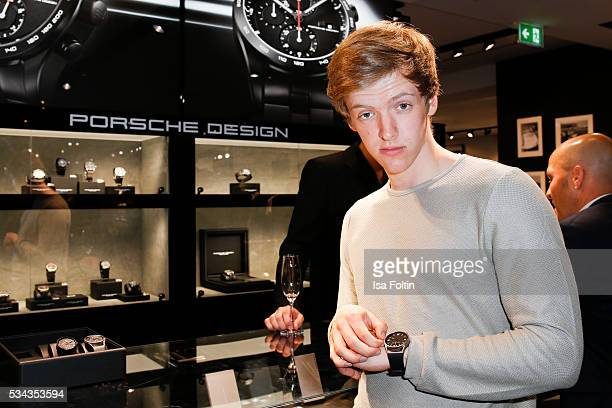 German actor Timur Bartels during presentation of the Porsche Design Timepieces '1919 Datetimer Eternity Black Edition' on May 25 2016 in Berlin...