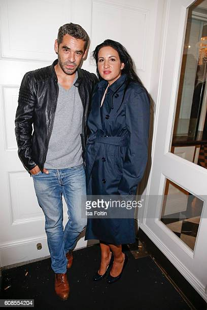 German actor Tobias Oertel and producer Minu BaratiFischer attend the First Steps Awards 2016 at Stage Theater on September 19 2016 in Berlin Germany