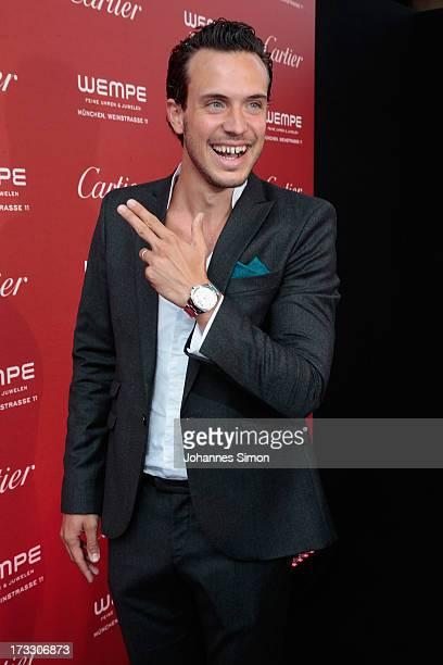 German actor Tobias van Dieken arrive for the 'League of Gentlemen' launch of the Calibre de Cartier chronograph at Heart Club on July 11 2013 in...