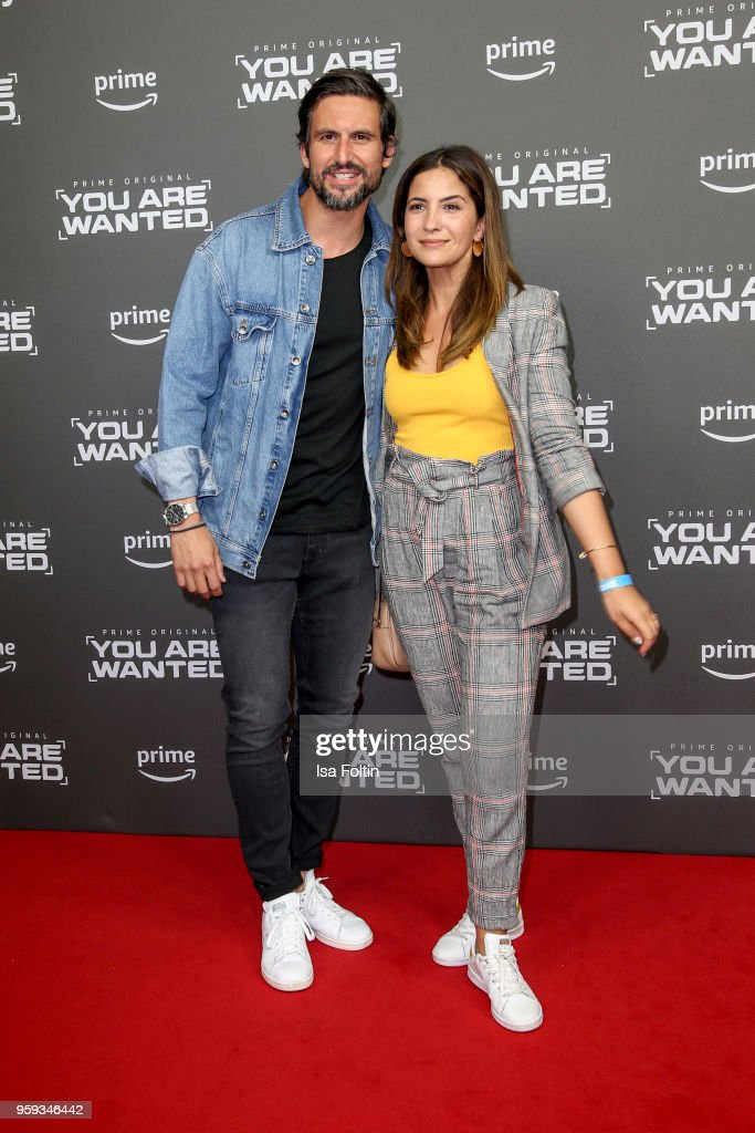 German actor Tom Beck and his girlfriend German actress Chryssanthi Kavazi attend the premiere of the second season of 'You are wanted' at Filmtheater am Friedrichshain on May 16, 2018 in Berlin, Germany.