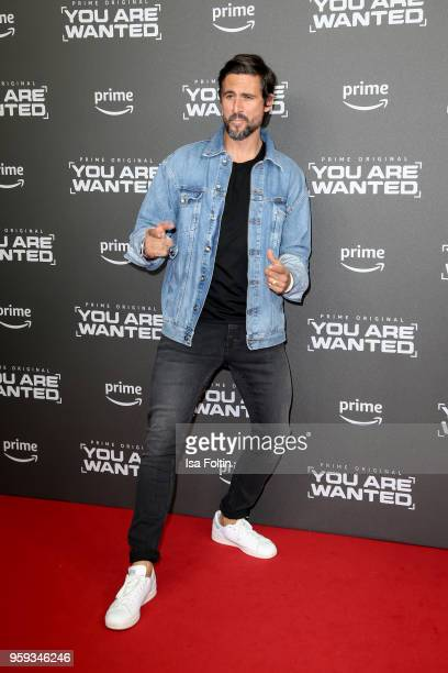 German actor Tom Beck attends the premiere of the second season of 'You are wanted' at Filmtheater am Friedrichshain on May 16 2018 in Berlin Germany