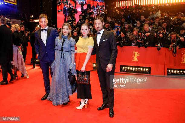 German actor Tom Wlaschiha german stage designer Aino Laberenz german actress Jella Haase and german actor Tom Wlaschiha attend the 'Django' premiere...