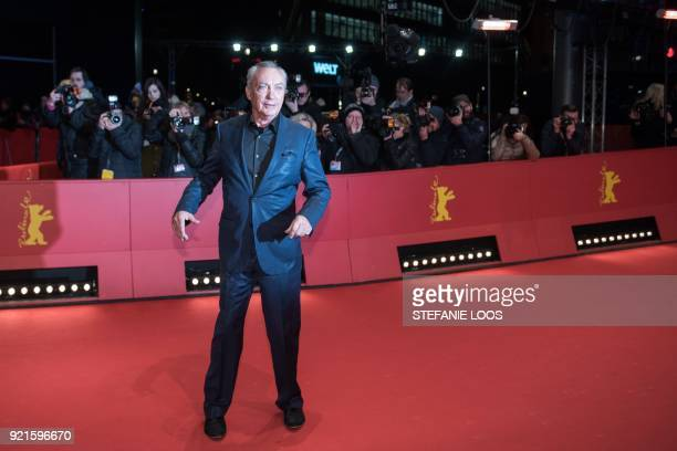 German actor Udo Kier poses on the red carpet for the premiere of the film 'Don't Worry He Won't Get Far on Foot' presented in competition during the...