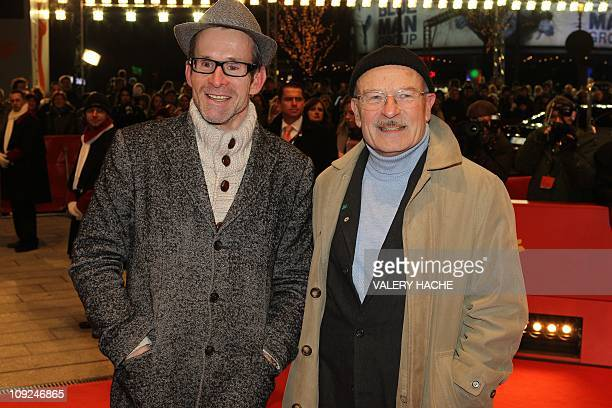 German actor Ulrich Matthes and German director Volker Schloendorff arrive on the red carpet for the premiere of the movie If Not Us Who by Geman...