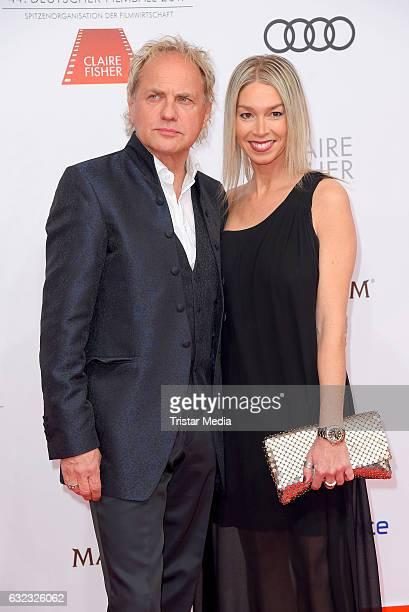 German actor Uwe Ochsenknecht and girlfriend Kirsten Kiki Viebrock attend the German Film Ball 2017 at Hotel Bayerischer Hof on January 21 2017 in...