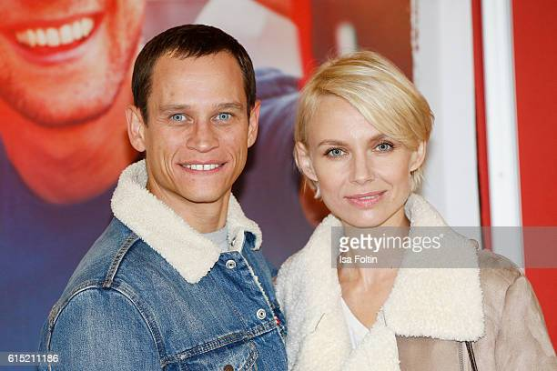 German actor Vinzenz Kiefer and his girlfriend Masha Tokareva attend the German premiere of the film 'Nirgendwo' at Cubix Alexanderplatz on October...