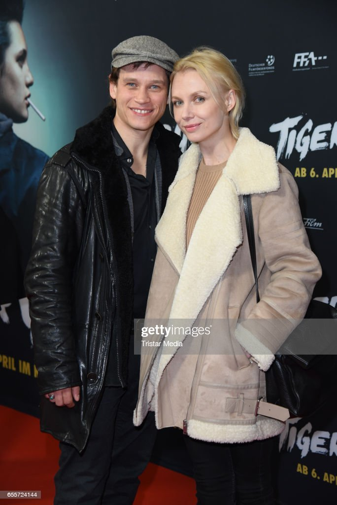German actor Vinzenz Kiefer and his wife Masha Tokareva attend the premiere of the film 'Tiger Girl' at Zoo Palast on March 20, 2017 in Berlin, Germany.