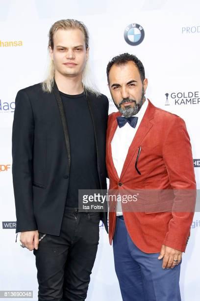 German actor Wilson Gonzalez Ochsenkecht and German actor Adnan Maral attend the summer party 2017 of the German Producers Alliance on July 12 2017...