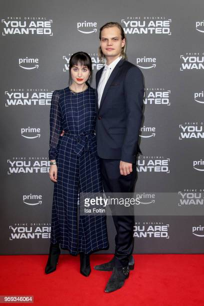 German actor Wilson Gonzalez Ochsenkecht and his girlfriend Lorraine Bedros attend the premiere of the second season of 'You are wanted' at...