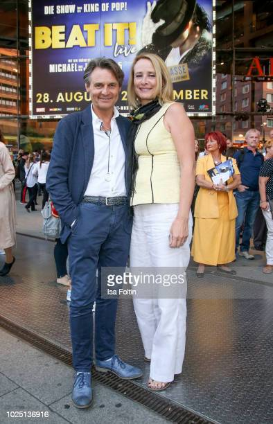 German actor Wolfgang Bahro and his wife Barbara Bahro during the musical premiere of 'BEAT IT Die Show ueber den King of Pop' at Stage Theater am...