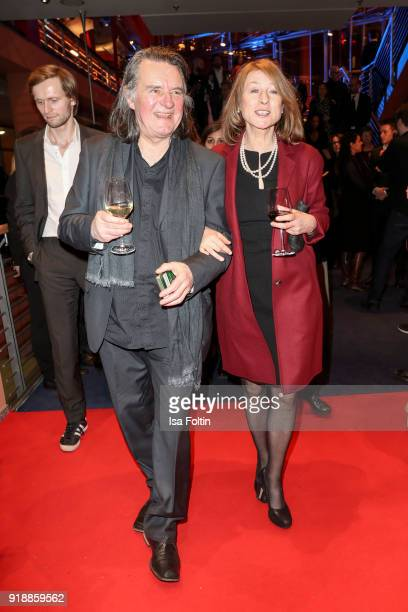 German actor Wolfgang Krause Zwieback and his partner German actress Caroline Harfouch attends the opening party of the 68th Berlinale International...