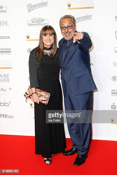German actor Wolfgang Stumph and his wife Christine Stumph attend the Goldene Henne on October 28, 2016 in Leipzig, Germany.