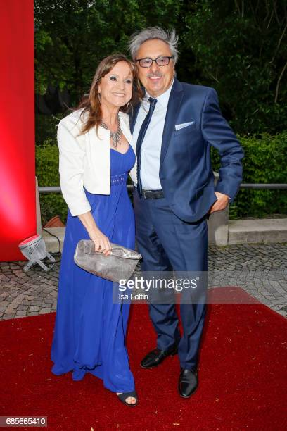 German actor Wolfgang Stumph and his wife Christine Stumph attend the Bayerischer Fernsehpreis 2017 at Prinzregententheater on May 19, 2017 in...