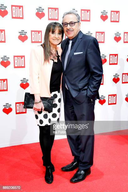 German Actor Wolfgang Stumph and his wife Christine Stumph attend the 'Ein Herz fuer Kinder Gala' at Studio Berlin Adlershof on December 9, 2017 in...