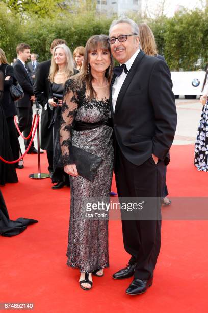 German actor Wolfgang Stumph and his wife Christine Stumph during the Lola - German Film Award red carpet arrivals at Messe Berlin on April 28, 2017...