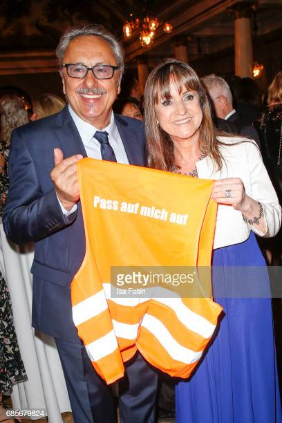 German actor Wolfgang Stumph and his wife Christine Stumph during the Bayerischer Fernsehpreis 2017 at Prinzregententheater on May 19, 2017 in...