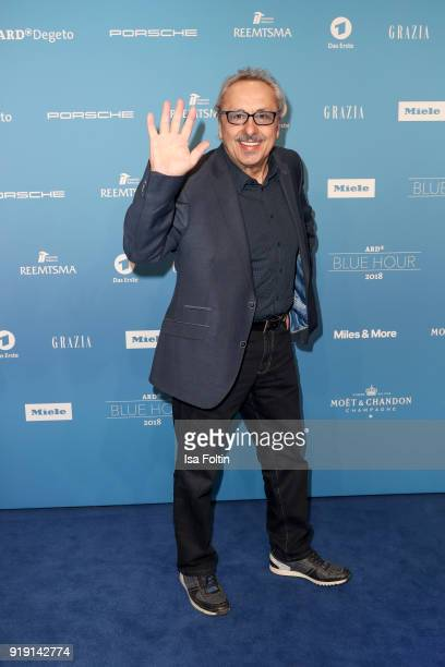 German actor Wolfgang Stumph attends the Blue Hour Reception hosted by ARD during the 68th Berlinale International Film Festival Berlin on February...