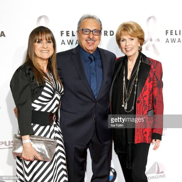 German actor Wolfgang Stumph with his wife Christine Stumph and Christa Maar attend the Felix Burda Award 2017 at Hotel Adlon on May 14, 2017 in...