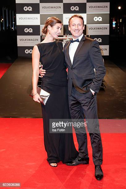 German actor Wotan Wilke Moehring and guest attend the GQ Men of the year Award 2016 at Komische Oper on November 10 2016 in Berlin Germany